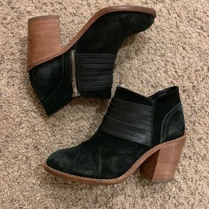 Loeffler Randall suede and leather booties